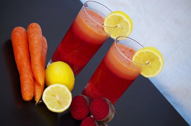 nápoj z řepy a mrkve